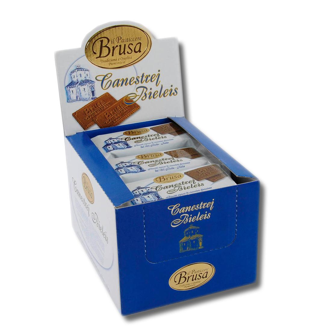 带展示盒的小包装canestrelli-biellesi-expo饼干-18个装